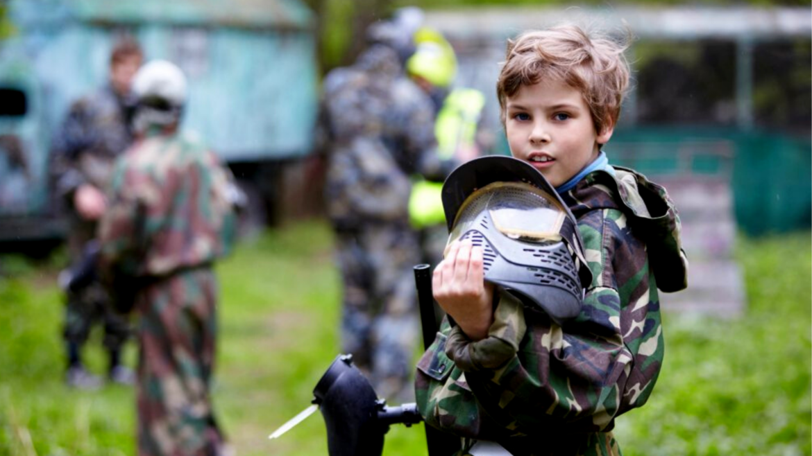 Kinder-Paintball